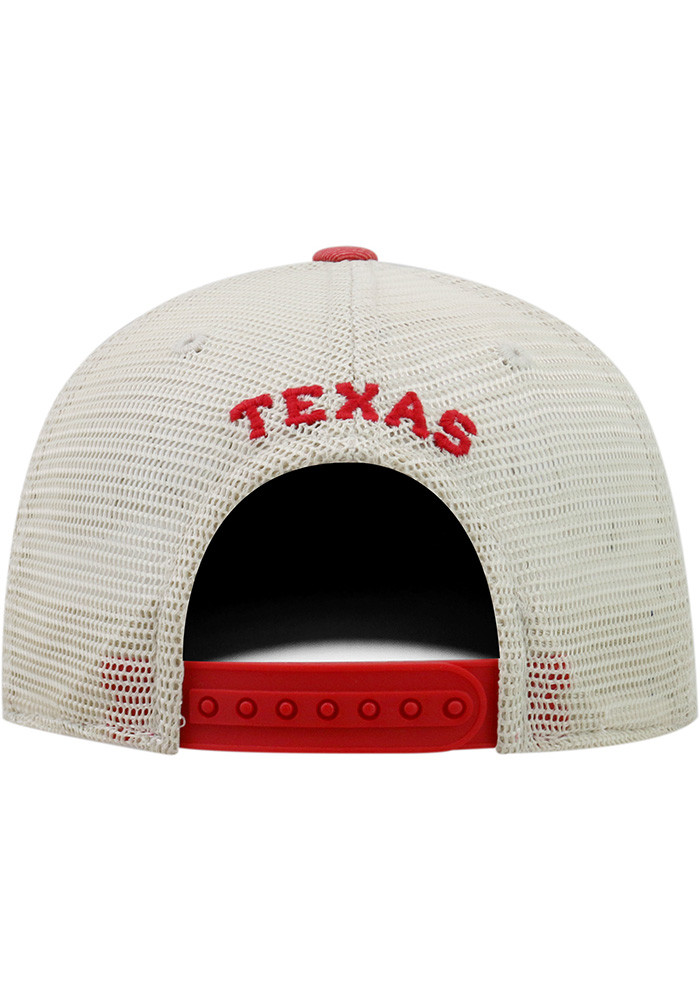 Top of the World Texas Mens Red Dirty Mesh Adjustable Hat - Image 2