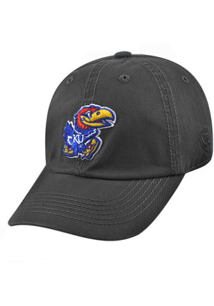 a1479e9272a Top of the World Kansas Jayhawks Grey Crew Youth Adjustable Hat