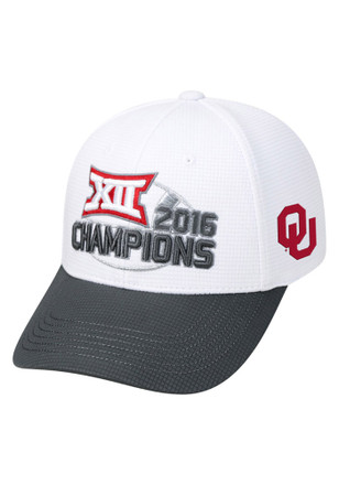 Top of the World Oklahoma Sooners Mens White 2016 Big 12 Champion Adjustable Hat