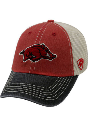 Top of the World Arkansas Razorbacks Mens Crimson Offroad Adjustable Hat
