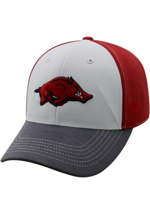 Top of the World Arkansas Razorbacks Mens Crimson Grip Flex Hat