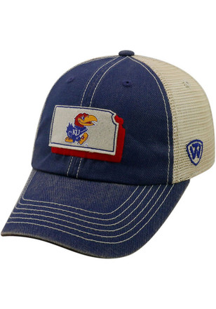 e2d1c9084f1 Top of the World Kansas Jayhawks Blue United Youth Adjustable Hat