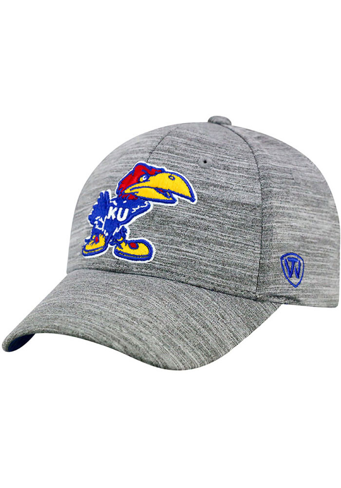 Top of the World Kansas Jayhawks Mens Grey So Clean Adjustable Hat, Grey, ATHLETIC BLEND, Size ADJ