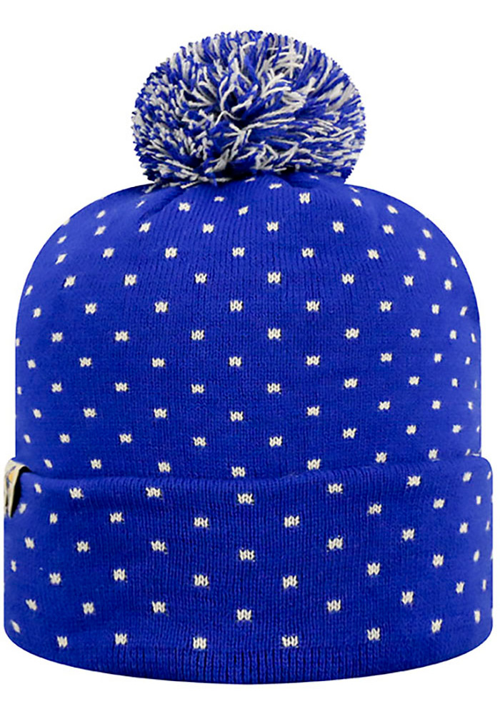Top of the World Kansas Jayhawks Blue Firn Womens Knit Hat - Image 2
