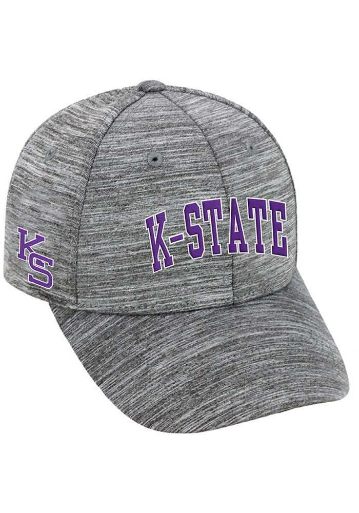 Top of the World K-State Wildcats Mens Grey So Clean Adjustable Hat, Grey, ATHLETIC BLEND, Size ADJ