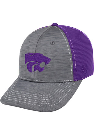 Top of the World K-State Wildcats Mens Grey Upright Flex Hat