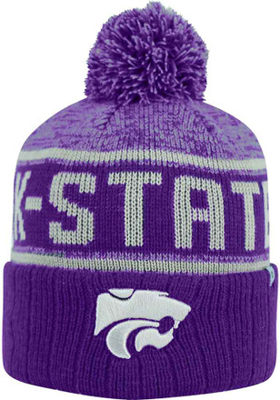 Top of the World K-State Wildcats Black Acid Rain Knit Hat