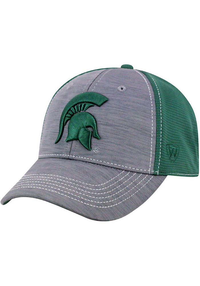 Top of the World Michigan State Spartans Mens Grey Upright Flex Hat - Image 1