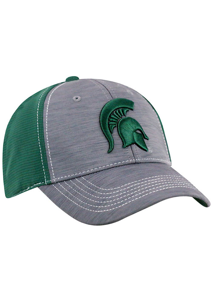 Top of the World Michigan State Spartans Mens Grey Upright Flex Hat - Image 2