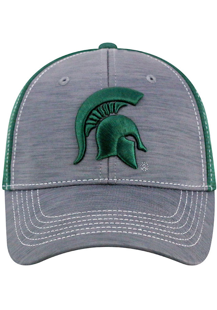 Top of the World Michigan State Spartans Mens Grey Upright Flex Hat - Image 3