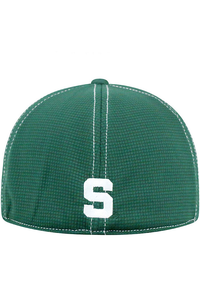 Top of the World Michigan State Spartans Mens Grey Upright Flex Hat - Image 4