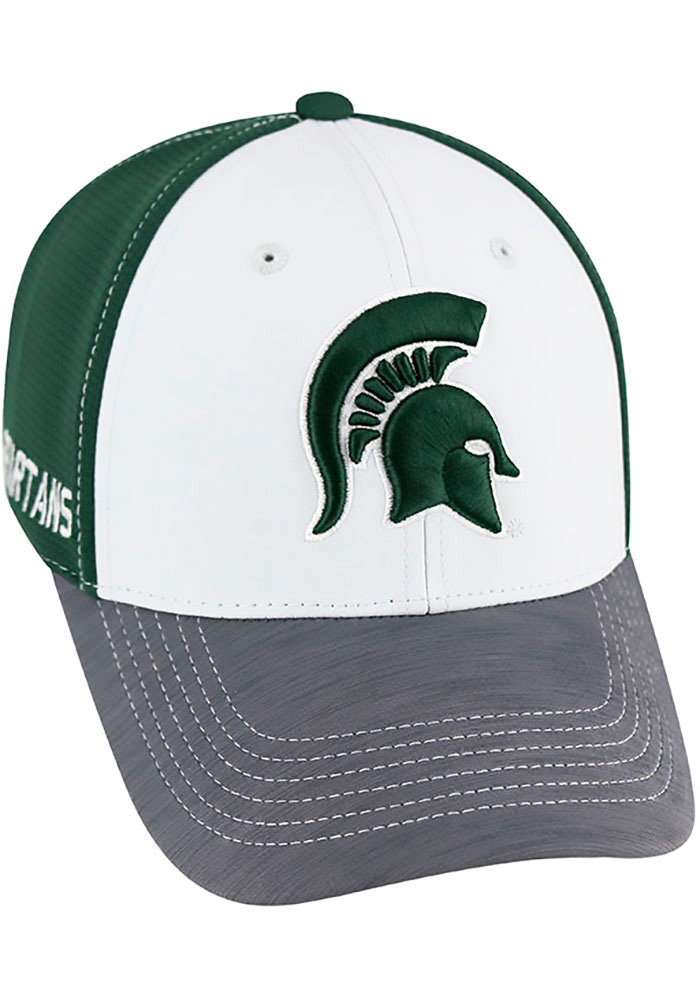 Top of the World Michigan State Spartans Mens Green Grip Flex Hat - Image 1