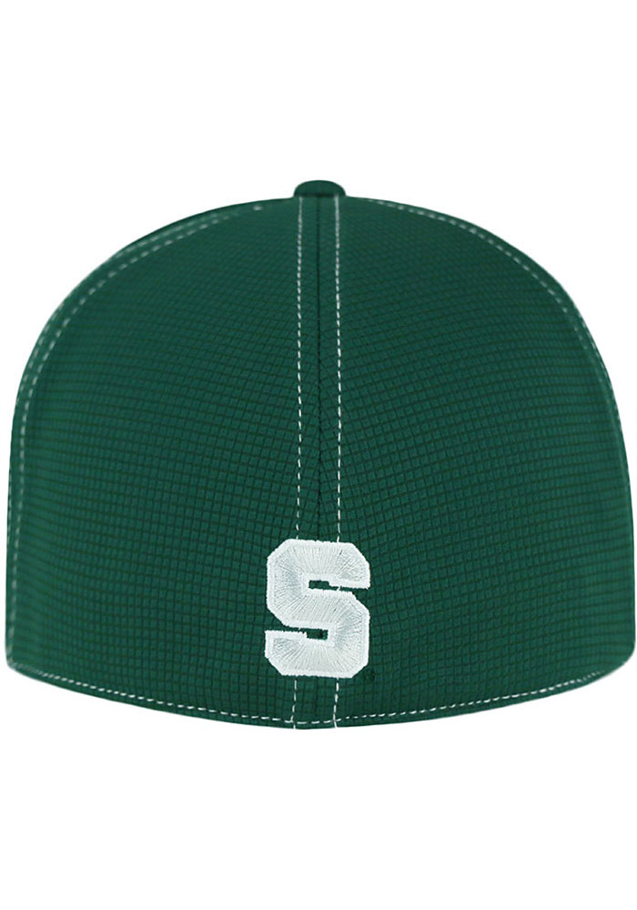 Top of the World Michigan State Spartans Mens Green Grip Flex Hat - Image 2