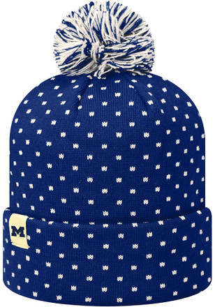 Top of the World Michigan Wolverines Navy Blue Firn Knit Hat