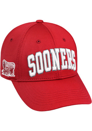 Top of the World Oklahoma Sooners Mens Crimson So Clean Adjustable Hat