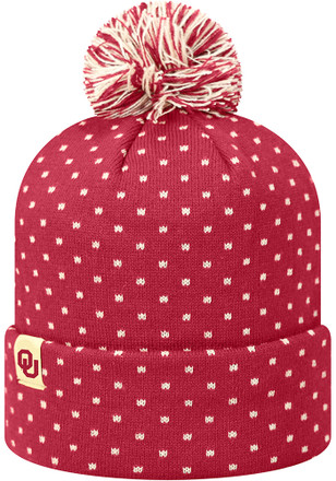 Top of the World Oklahoma Sooners Crimson Firn Knit Hat