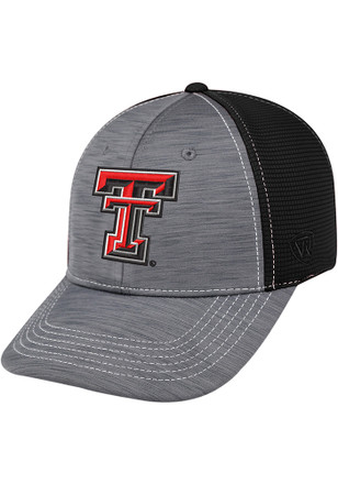 Top of the World Texas Tech Red Raiders Mens Grey Upright Flex Hat