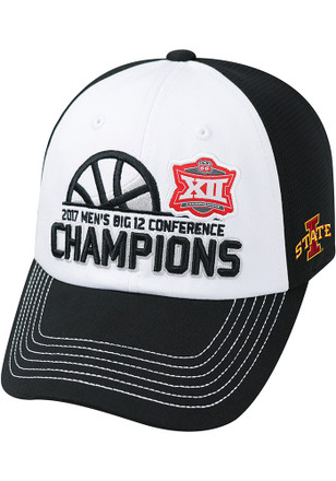 Top of the World Iowa State Cyclones Mens Black Big 12 Champ LR Adjustable Hat