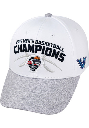 Top of the World Villanova Wildcats Mens White Big East Champ LR Adjustable Hat