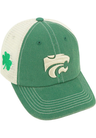 Top of the World K-State Wildcats Mens Green St Pats Adjustable Hat