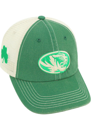 Top of the World Missouri Tigers Mens Kelly Green St Pats Adjustable Hat