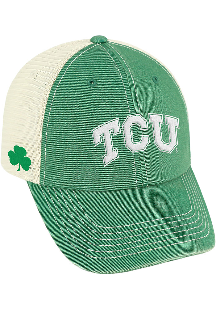 Top of the World TCU Horned Frogs St Pats Adjustable Hat - Kelly Green - Image 1