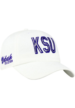 Top of the World K-State Wildcats Womens White Glow District Adjustable Hat