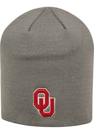 Oklahoma Sooners Top of the World Uncuffed Knit - Grey