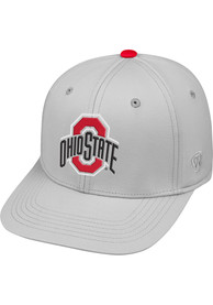 buy popular 40d6d ec4b7 Top of the World Ohio State Buckeyes Grey Impact Flex Hat