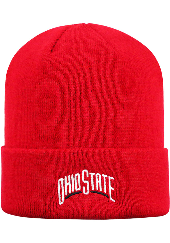 Top of the World Ohio State Buckeyes Red Cuff Mens Knit Hat - Image 2