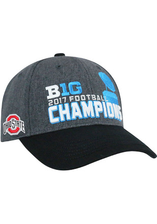 Top of the World Ohio State Buckeyes Mens Grey 2017 BIG10 Champ LR Adjustable Hat