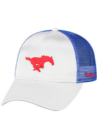 SMU Mustangs Womens Top of the World Glare Adjustable - White