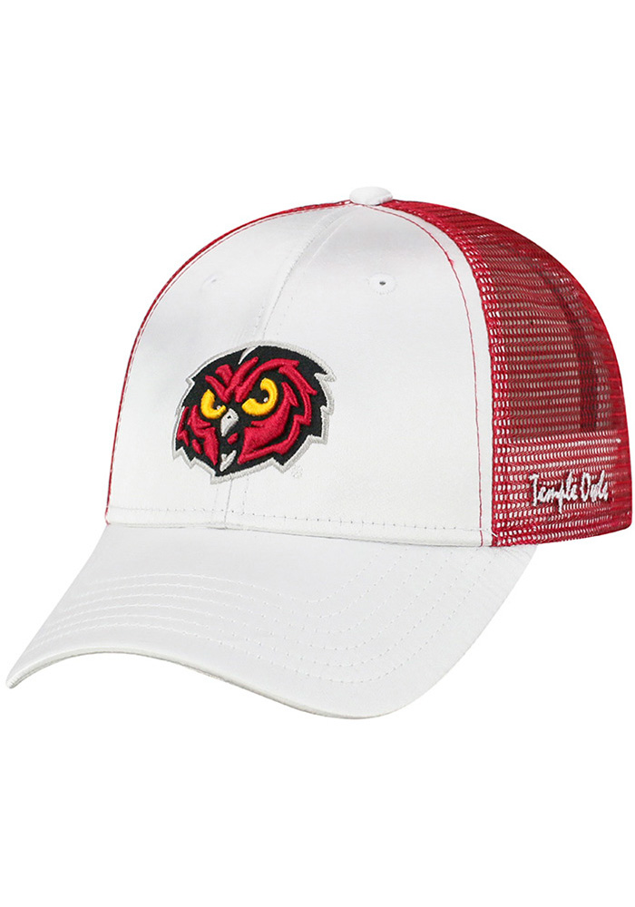 quality design b5d3e ea499 ... france top of the world temple owls womens white glare adjustable hat  5d086 69980