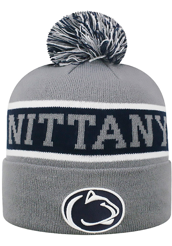 694fb65305916 ... usa top of the world penn state nittany lions grey radius cuff mens  knit hat image