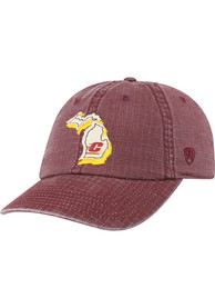 Central Michigan Chippewas Top of the World Stateline Adjustable Hat - Maroon