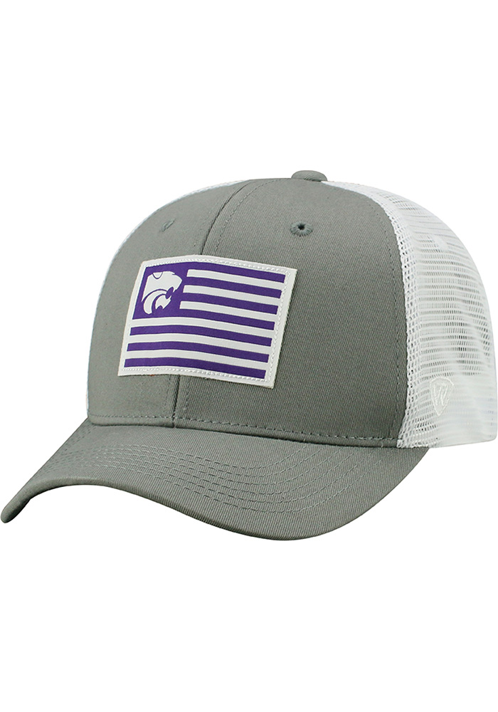 Top of the World K-State Wildcats Mens Grey Brave Adjustable Hat - Image 1