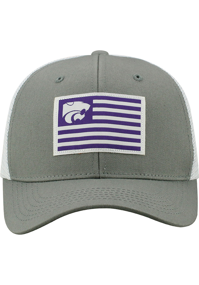Top of the World K-State Wildcats Mens Grey Brave Adjustable Hat - Image 3