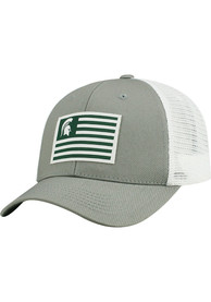Michigan State Spartans Top of the World Brave Adjustable Hat - Grey