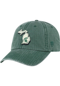 Michigan State Spartans Top of the World Stateline Adjustable Hat - Green