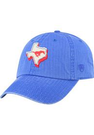 SMU Mustangs Top of the World Stateline Adjustable Hat - Blue