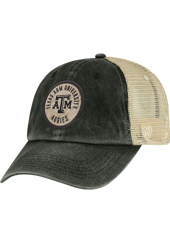 reputable site 3fdb7 eb27f Top of the World Texas A M Aggies Black Keepsake Meshback Adjustable Hat