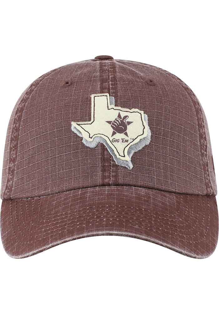 Top of the World Texas A&M Aggies Stateline Adjustable Hat - Maroon - Image 3