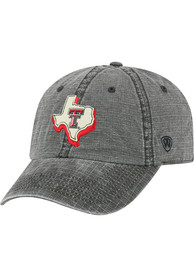 Texas Tech Red Raiders Top of the World Stateline Adjustable Hat - Black