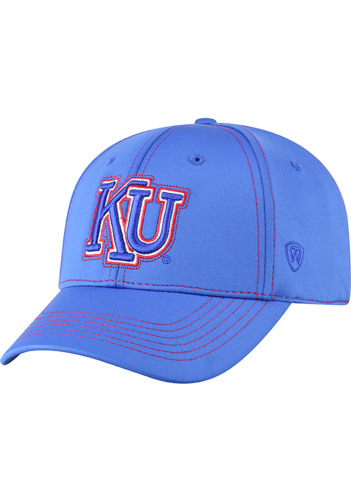 Top of the World Kansas Jayhawks Mens Blue Learning Curve Flex Hat - Image 1