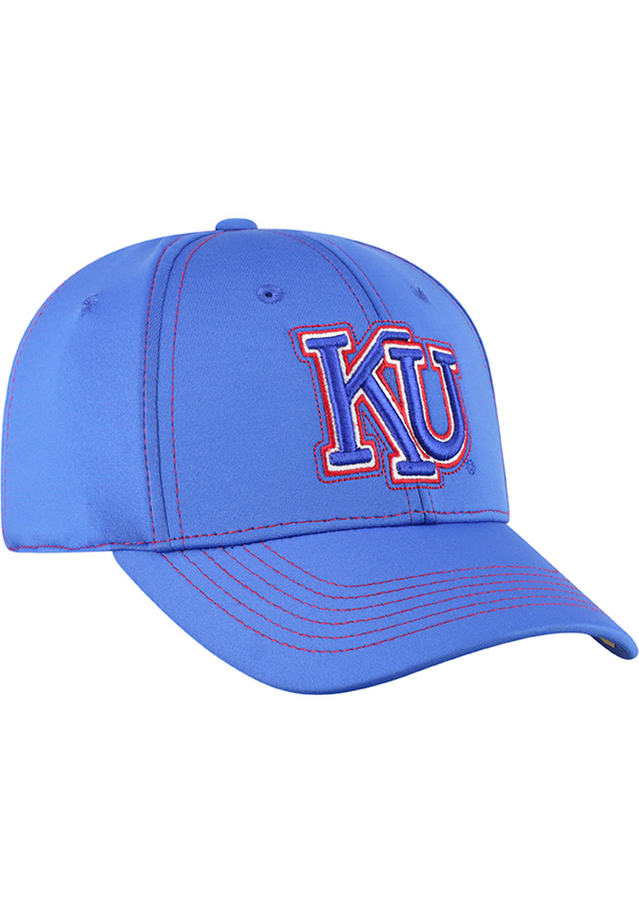 Top of the World Kansas Jayhawks Mens Blue Learning Curve Flex Hat - Image 2