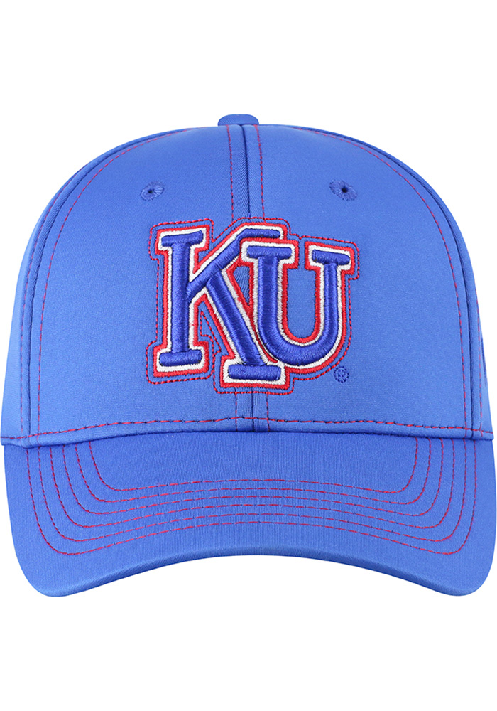 Top of the World Kansas Jayhawks Mens Blue Learning Curve Flex Hat - Image 3