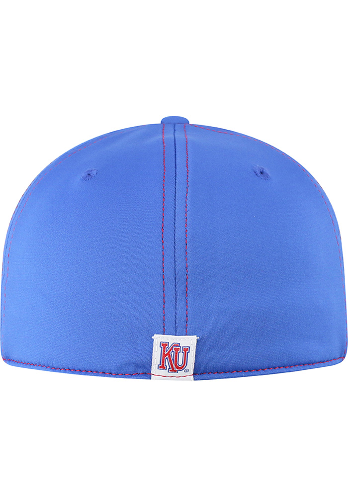 Top of the World Kansas Jayhawks Mens Blue Learning Curve Flex Hat - Image 4