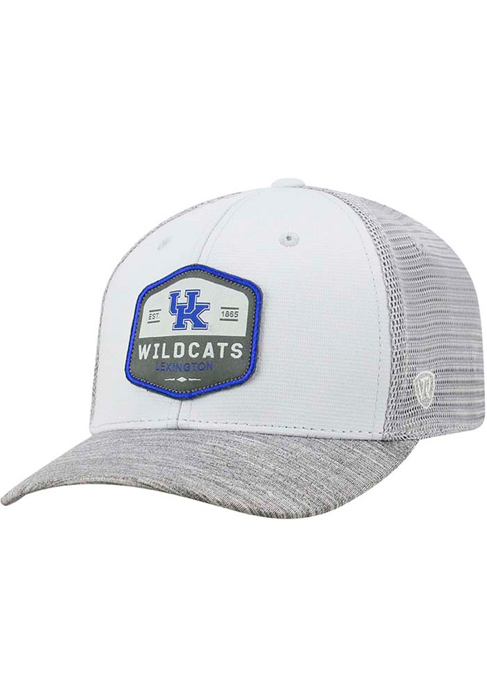 Top of the World Kentucky Wildcats Mens Grey Hyjak Flex Hat - Image 1