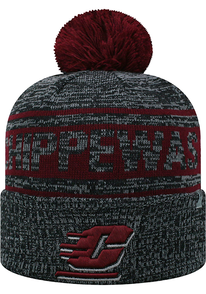 Top of the World Central Michigan Chippewas Grey Sockit To Me Mens Knit Hat - Image 1