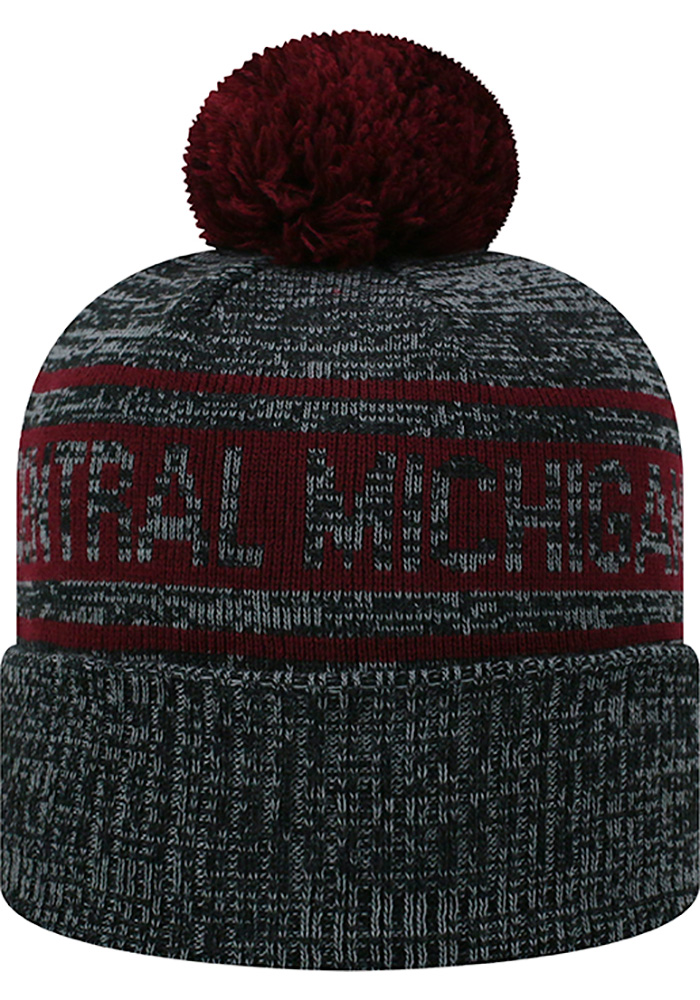Top of the World Central Michigan Chippewas Grey Sockit To Me Mens Knit Hat - Image 2